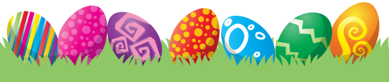 Happy Easter Eggs In Grass PNG Image