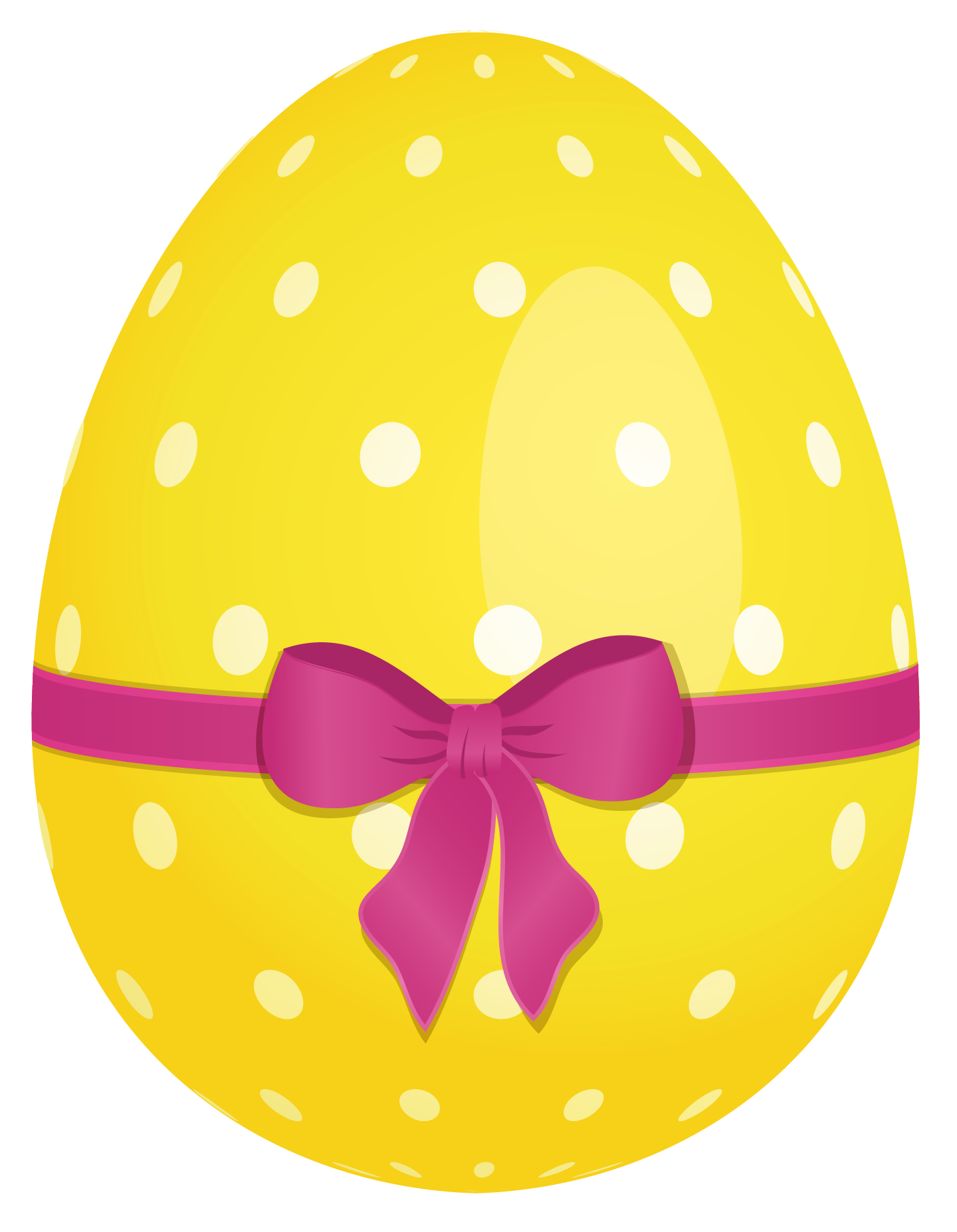 Easter Eggs Dotted Yellow PNG Image