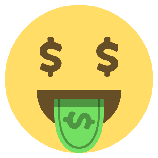 United Money Dollar Sign States Emoji PNG Image