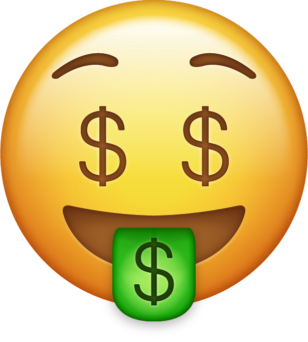 Emoticon On Money Keep Bag Carving Emoji PNG Image