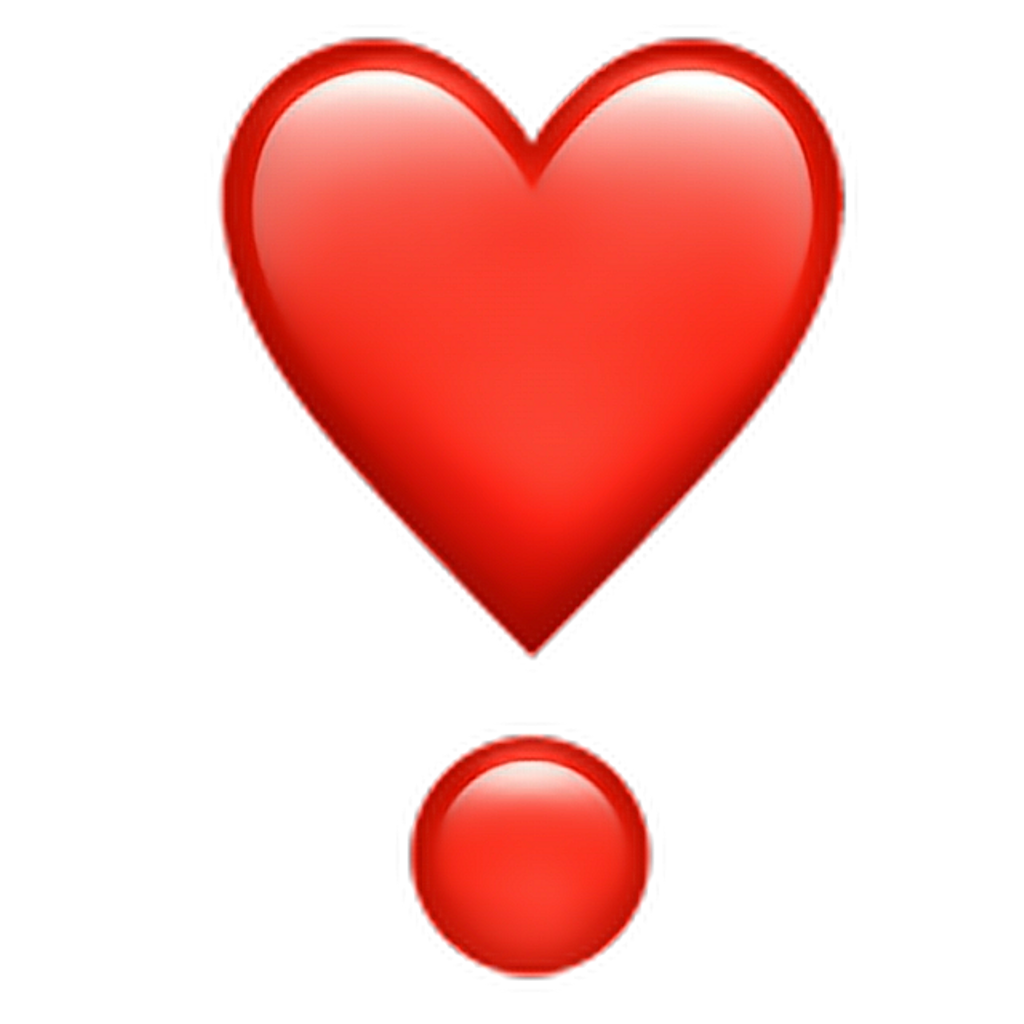 Exclamation Heart Symbol Mark Meaning Whatsapp Emoji PNG Image