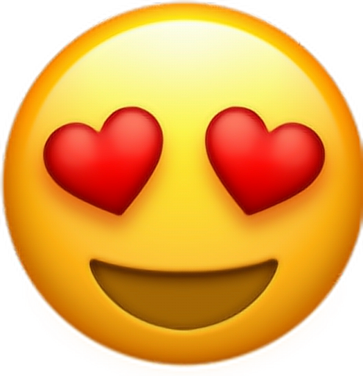 Emoticon Heart Smiley Upscale Whatsapp Emoji PNG Image