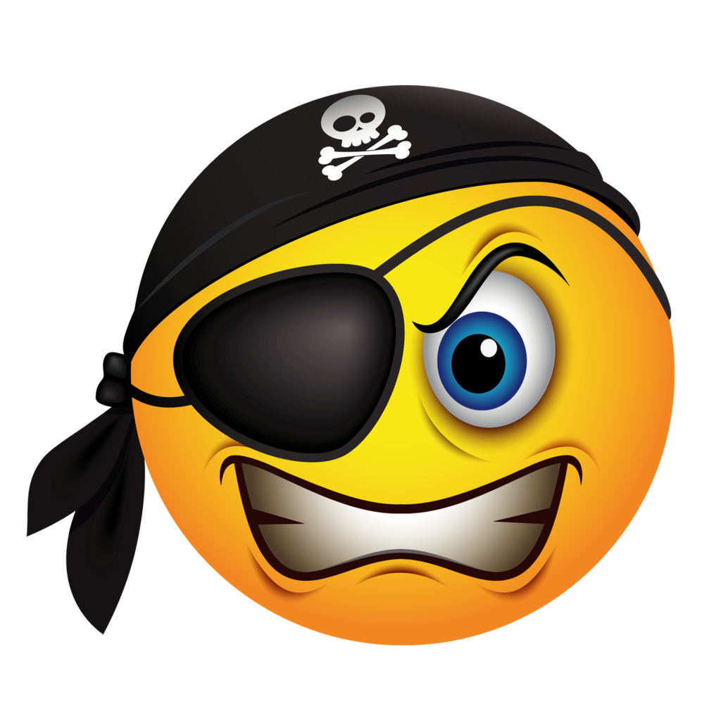 Emoticon Piracy Smiley Pirate Emoji PNG Image High Quality PNG Image