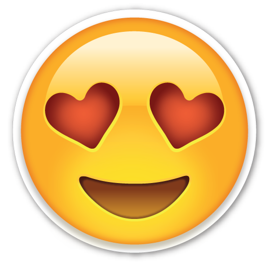 Emoticon Eyes Love Smiley Hearts Emoji PNG Image