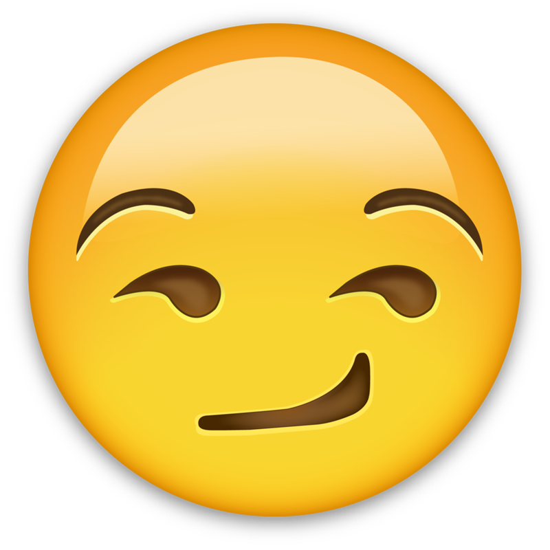 Emoticon Smirk Sticker World Day Emoji PNG Image