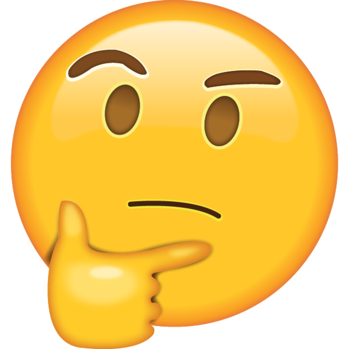 Emoticon Thinking Thought World Whatsapp Day Emoji PNG Image