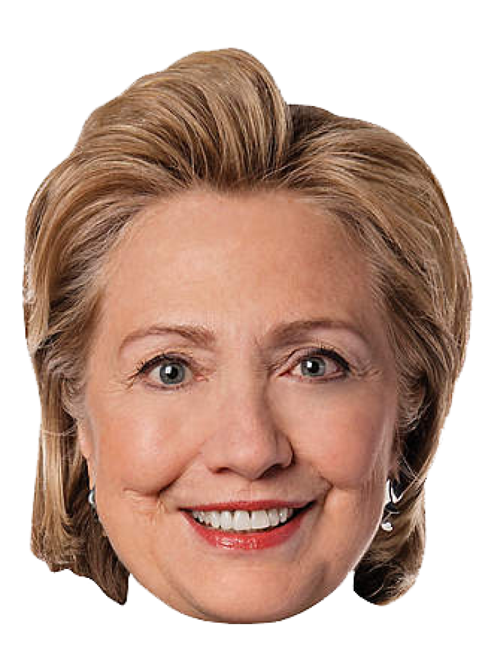 Clinton Face Hair Hillary Party Democratic PNG Image
