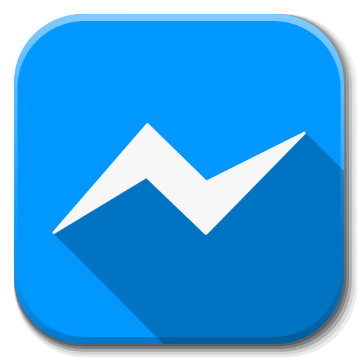 Blue Angle Area Symbol Apps Facebook Messenger PNG Image