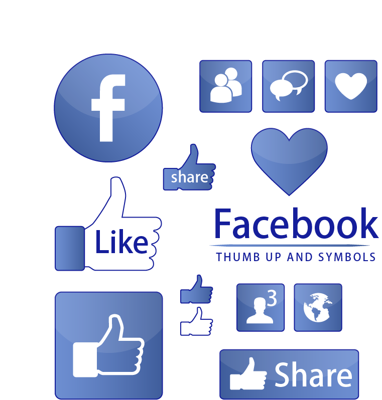 Information Like On Symbol Chart Facebook,Thumbs,Blue,Editable Vector PNG Image