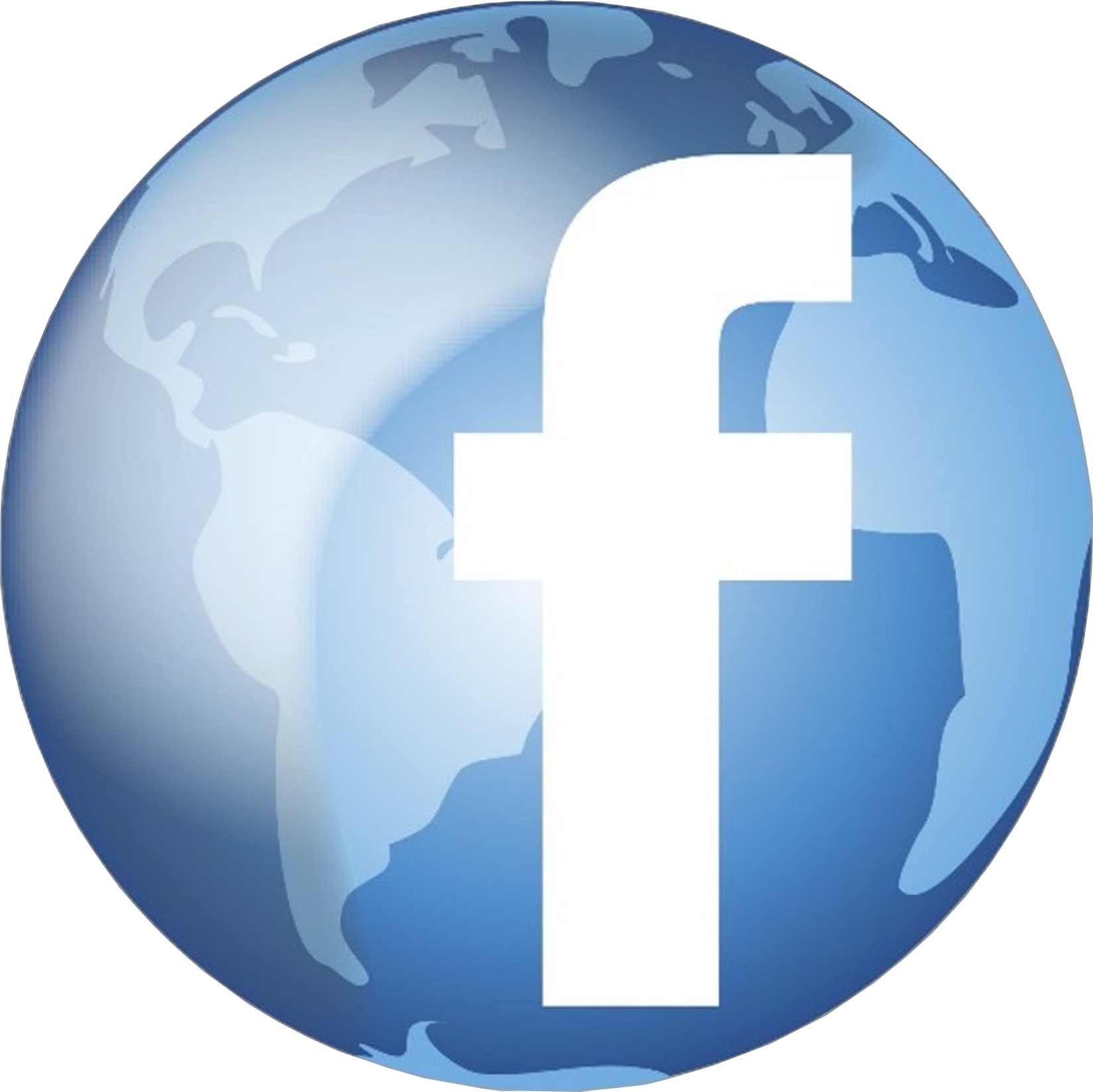 Media Globe Facebook Advertising Social World Connect PNG Image