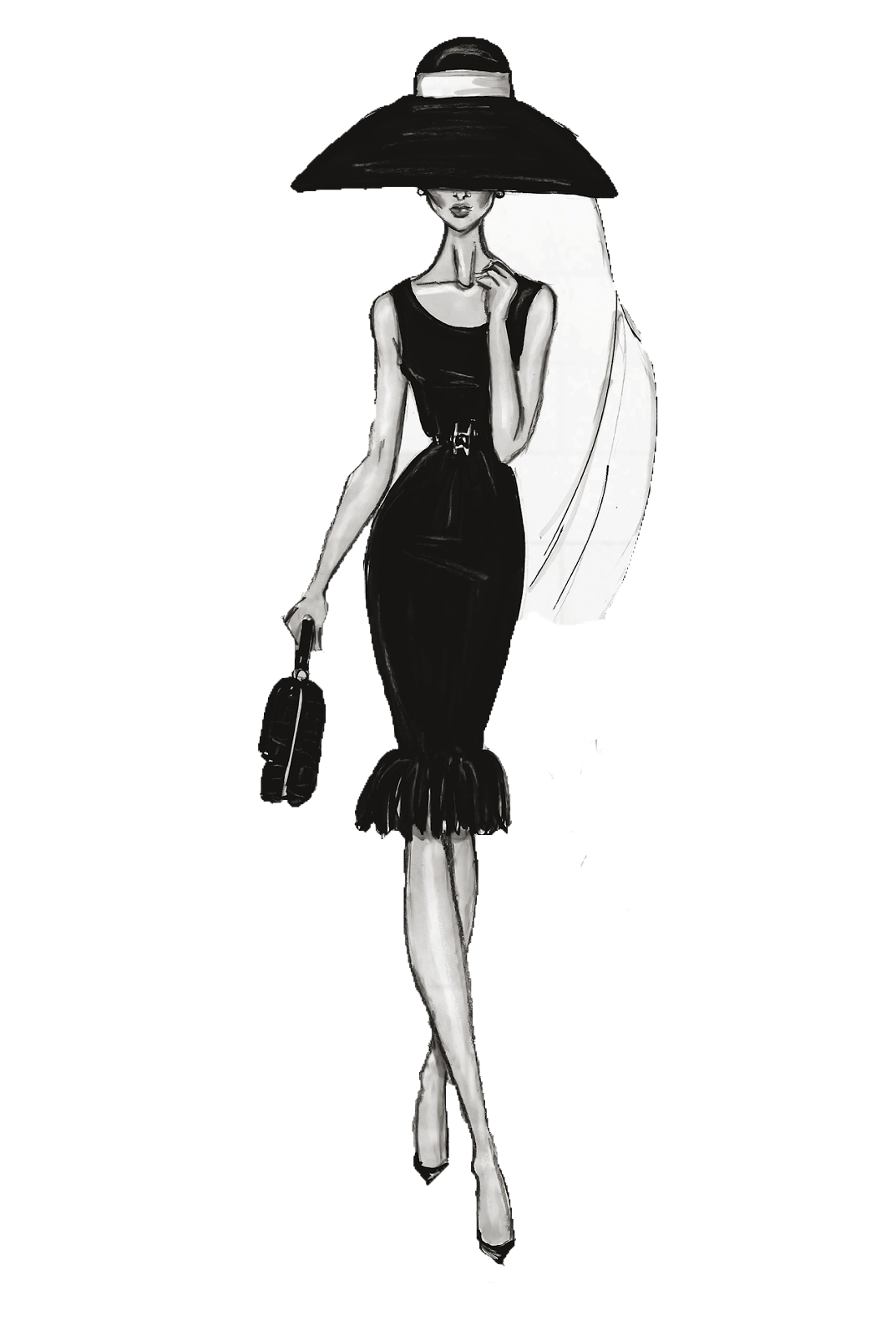 Female Fashion Drawing Illustration Chanel Free HD Image PNG Image