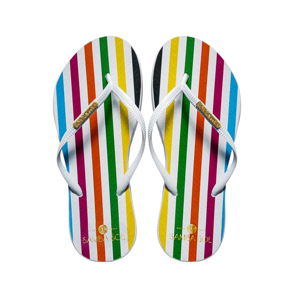 Rainbow Sister Fashion Flip Flip-Flops Twisted Luxury PNG Image