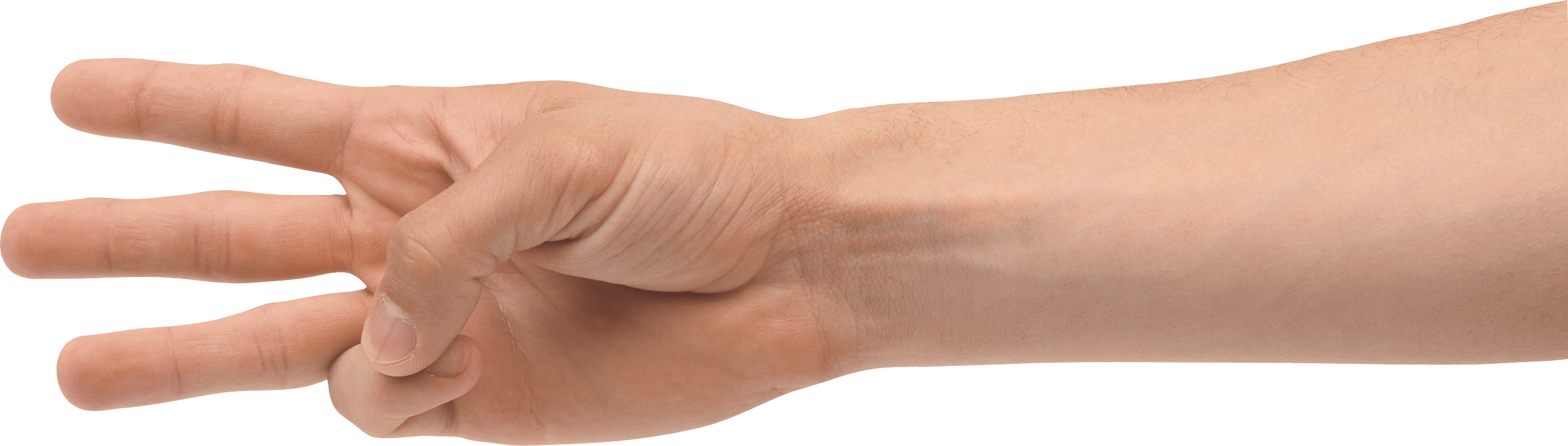 Three Fingers Png Image PNG Image