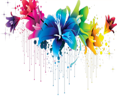 Colorful Flowers PNG Image