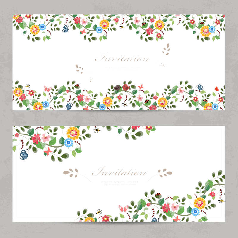 Butterfly Flower Wedding Greeting Euclidean Vector Invitation PNG Image