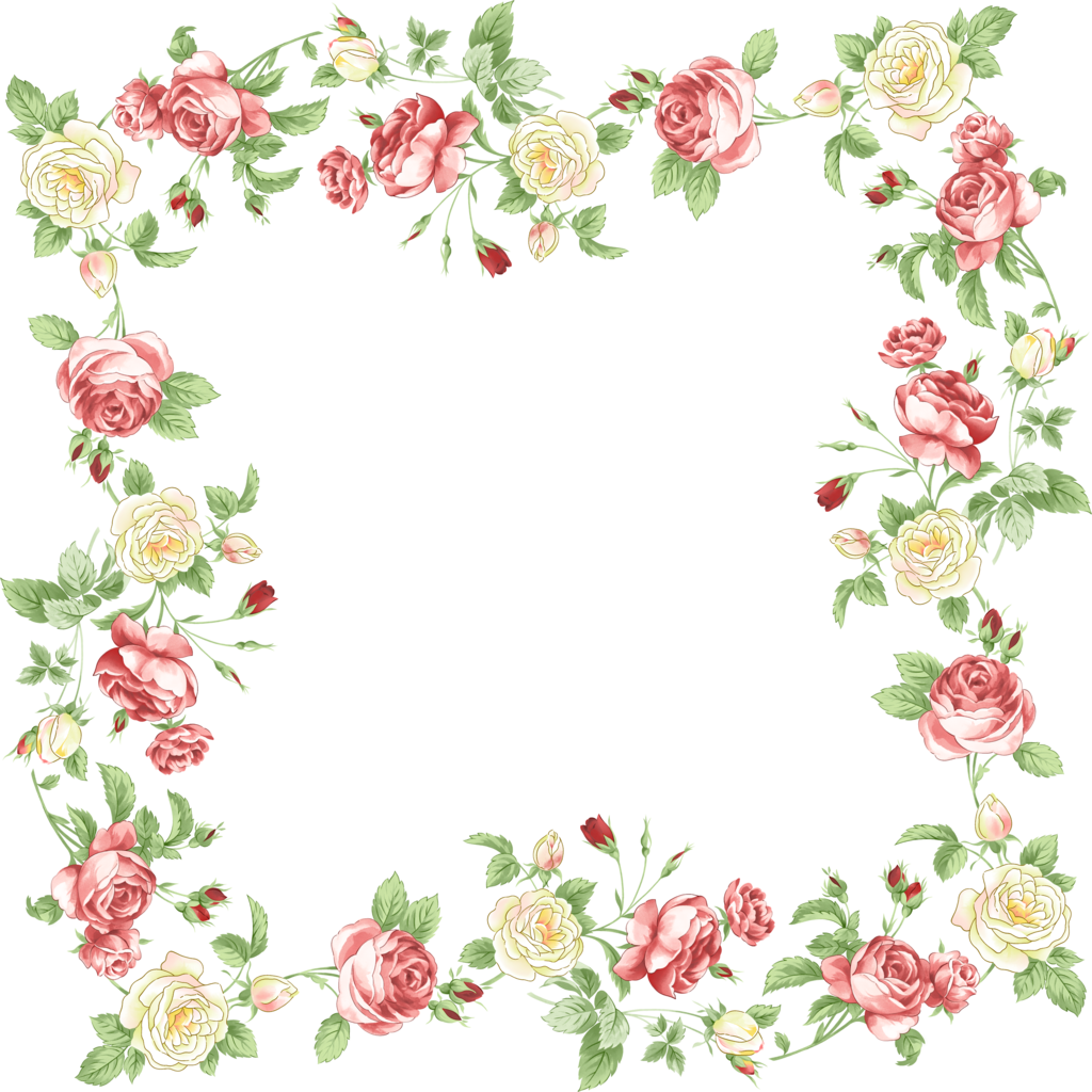 And Flower Portable Floral Design Graphics Frames PNG Image