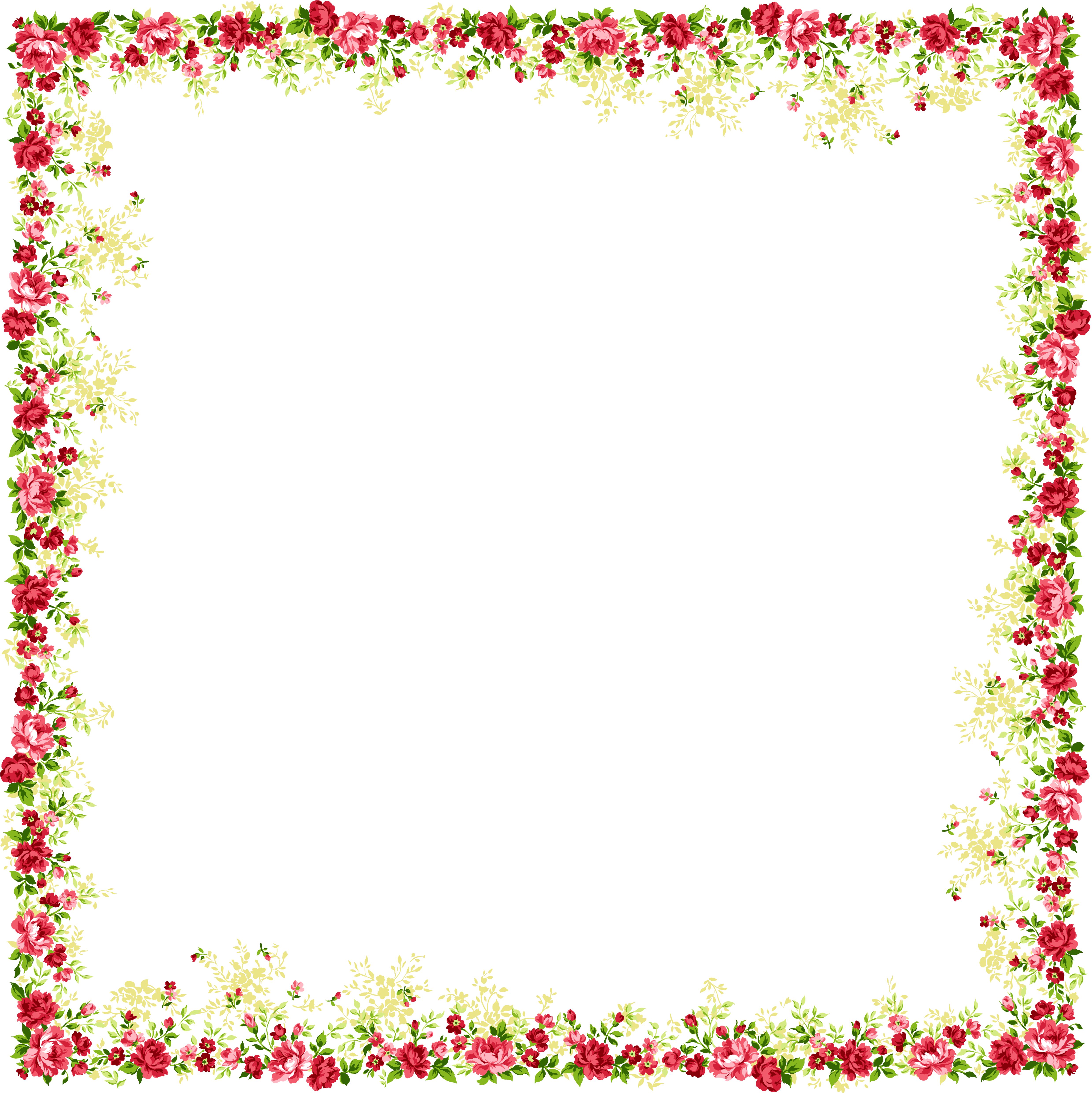 And Picture Flower Frame Frames Borders PNG Image