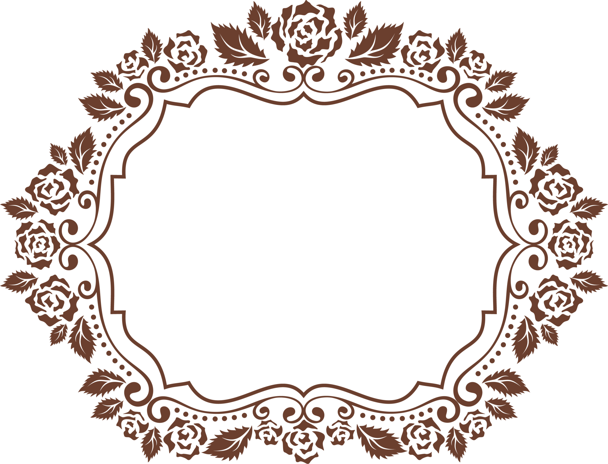 Brown Frame Flower Free Download PNG HQ PNG Image