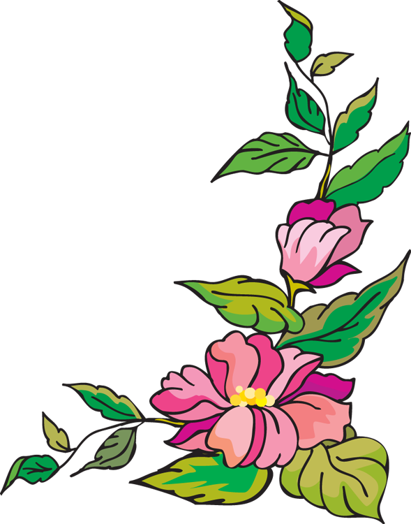 Borders Flower Border Page Free Transparent Image HQ PNG Image