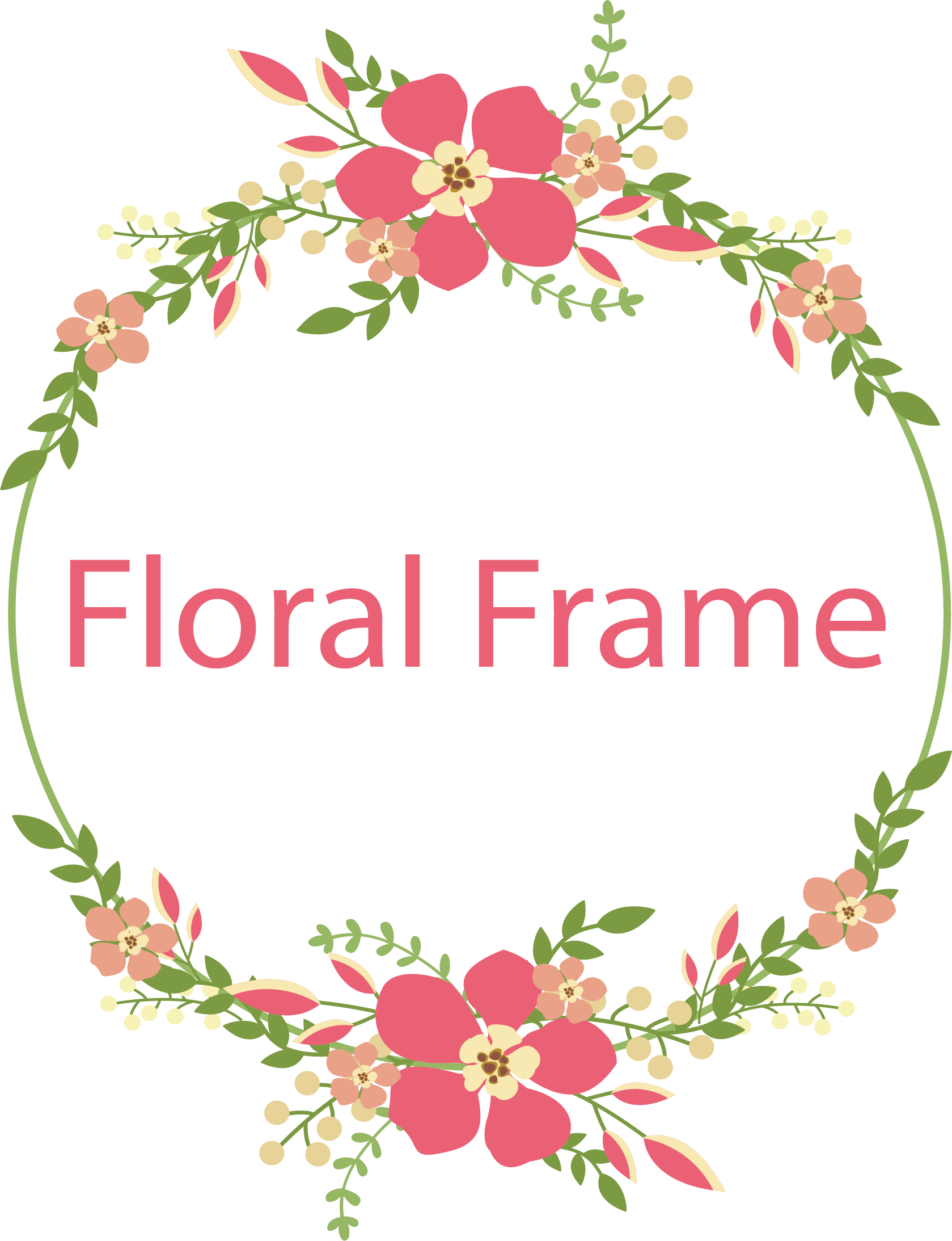 Vector Frame Flower PNG Free Photo PNG Image