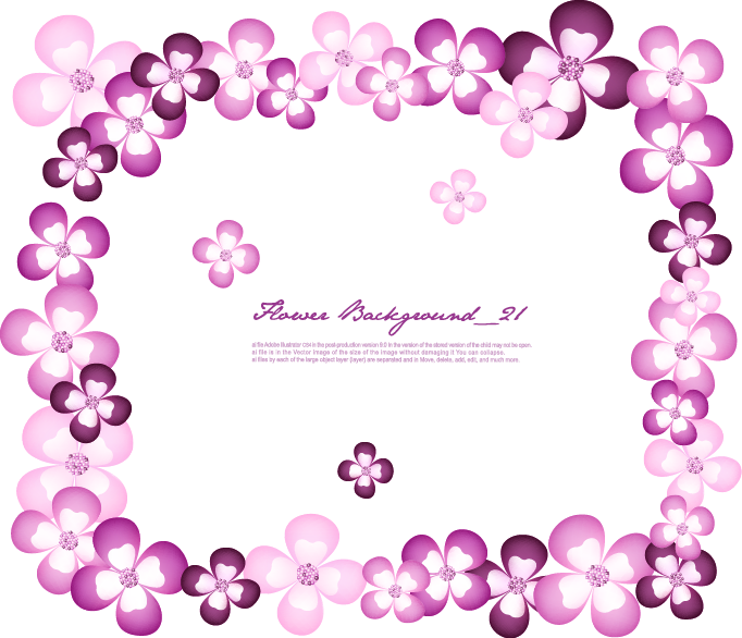 Purple Frame Flower Romantic Free HD Image PNG Image