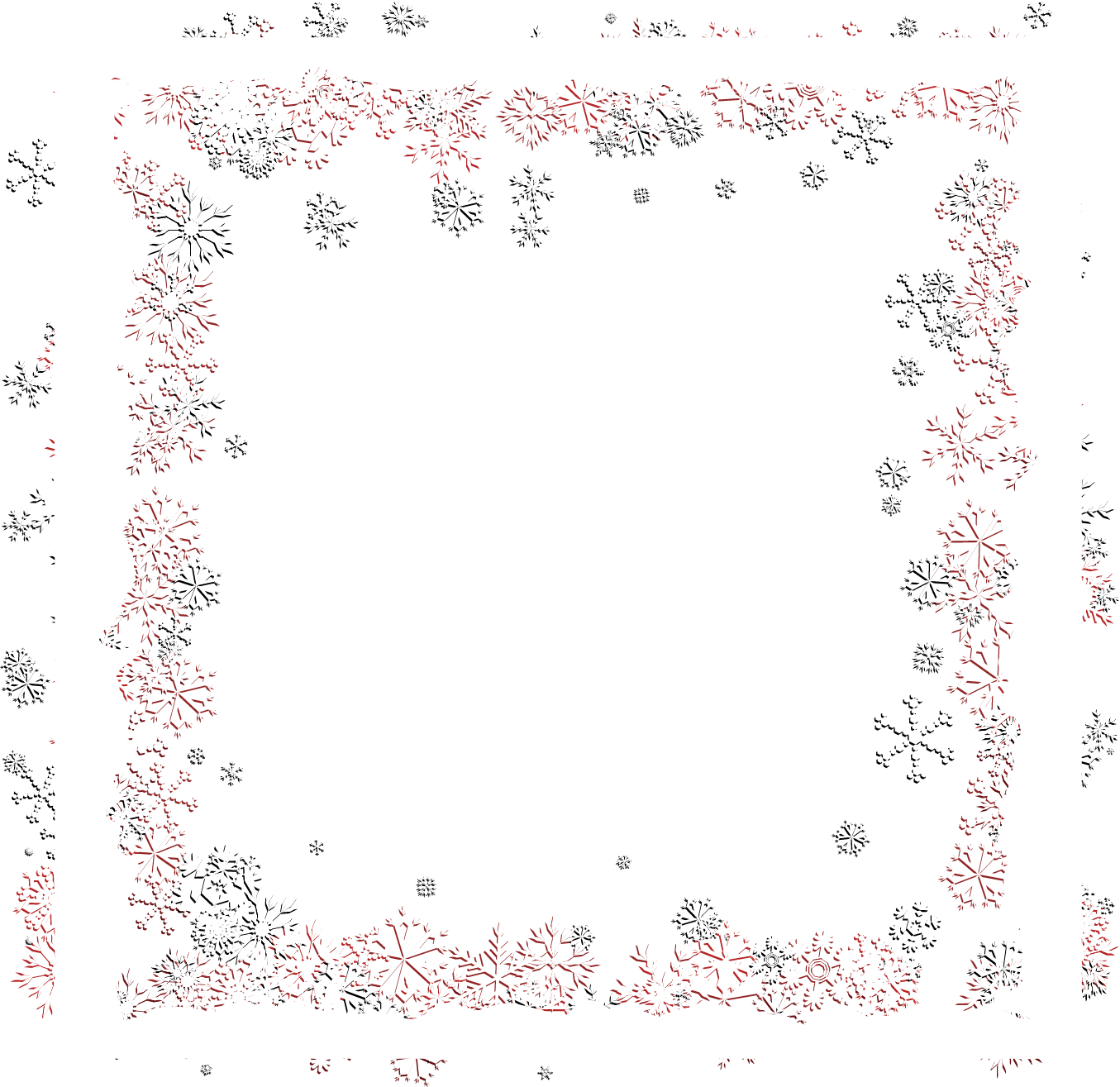 Vector Frame Flower Snowflake Download Free Image PNG Image