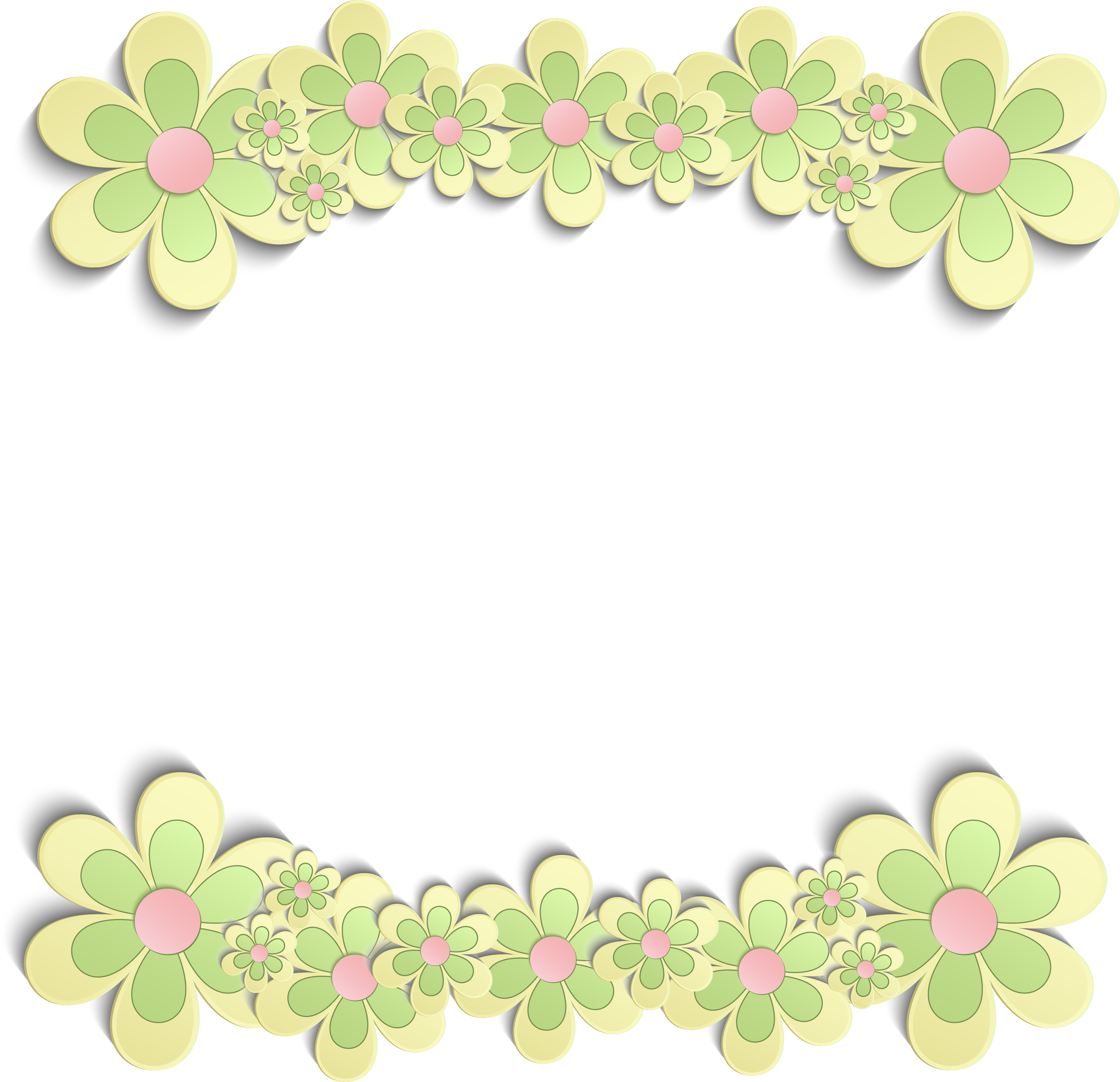 Frame Flower Green Free Download PNG HQ PNG Image