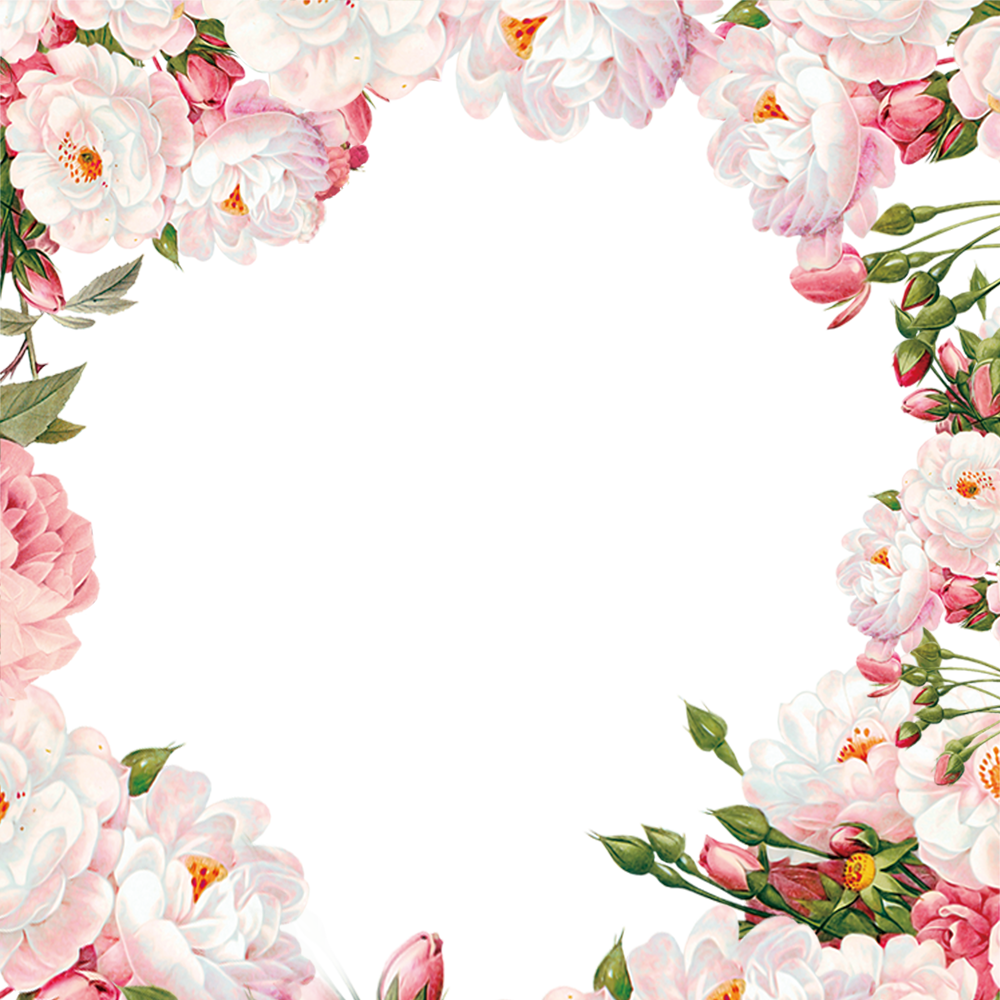 Painted Material Frame Flower Hand PNG Image High Quality PNG Image
