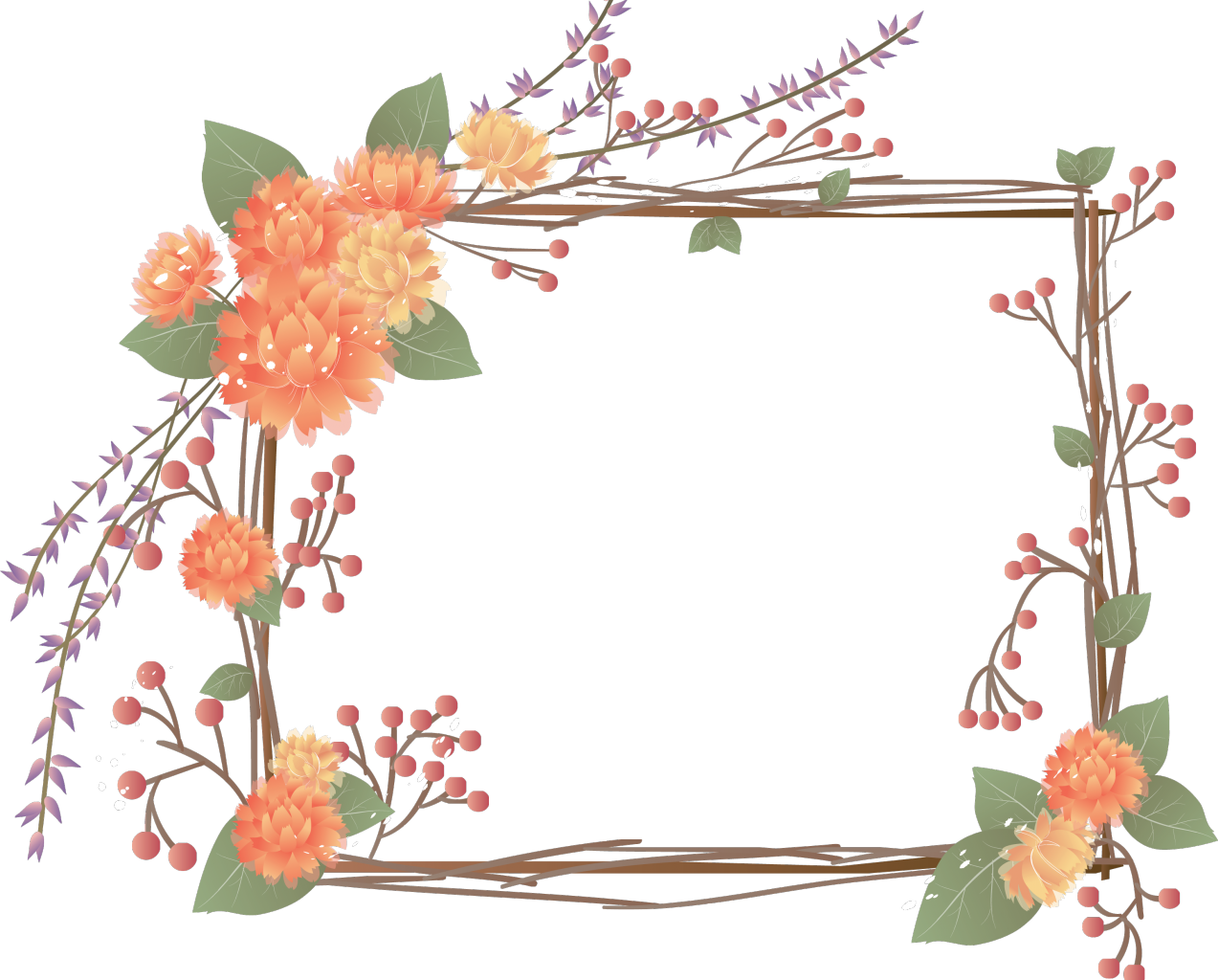 Pattern Frame Paper Flower Free Photo PNG PNG Image