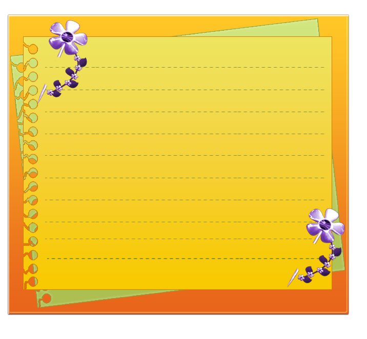 Flower Portable Yellow Paper Graphics Border Network PNG Image