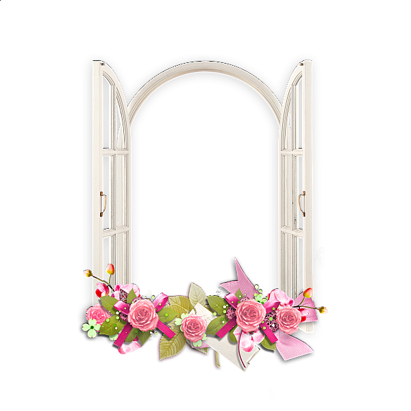Pink Picture Frame Flower PNG Free Photo PNG Image