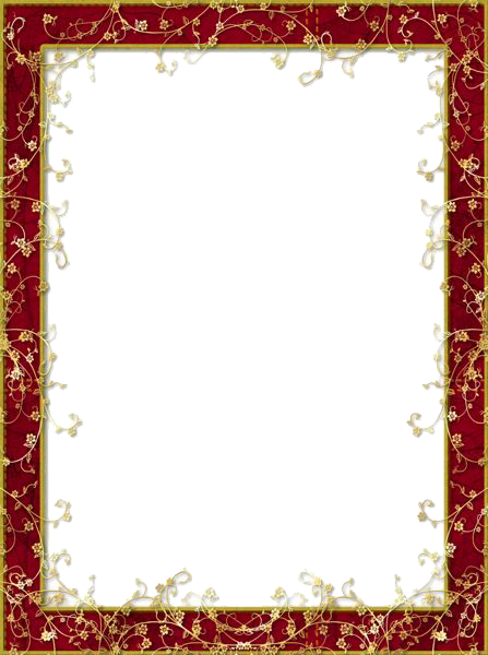 Picture Flower Frame Resolution Display Red PNG Image