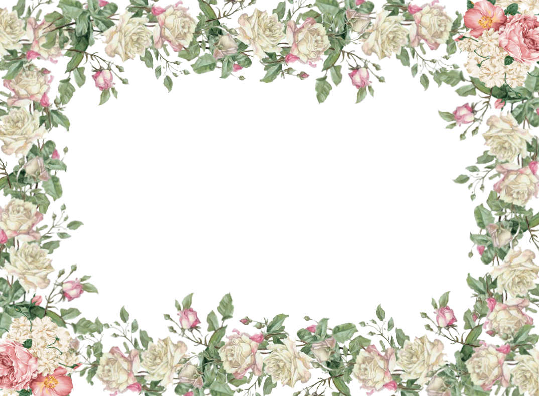 Picture Frame Flower White Transparent Free Transparent Image HD PNG Image