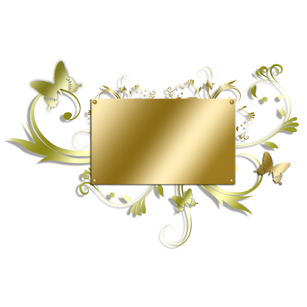 Picture Frame Flower Gold Golden Free Download PNG HD PNG Image