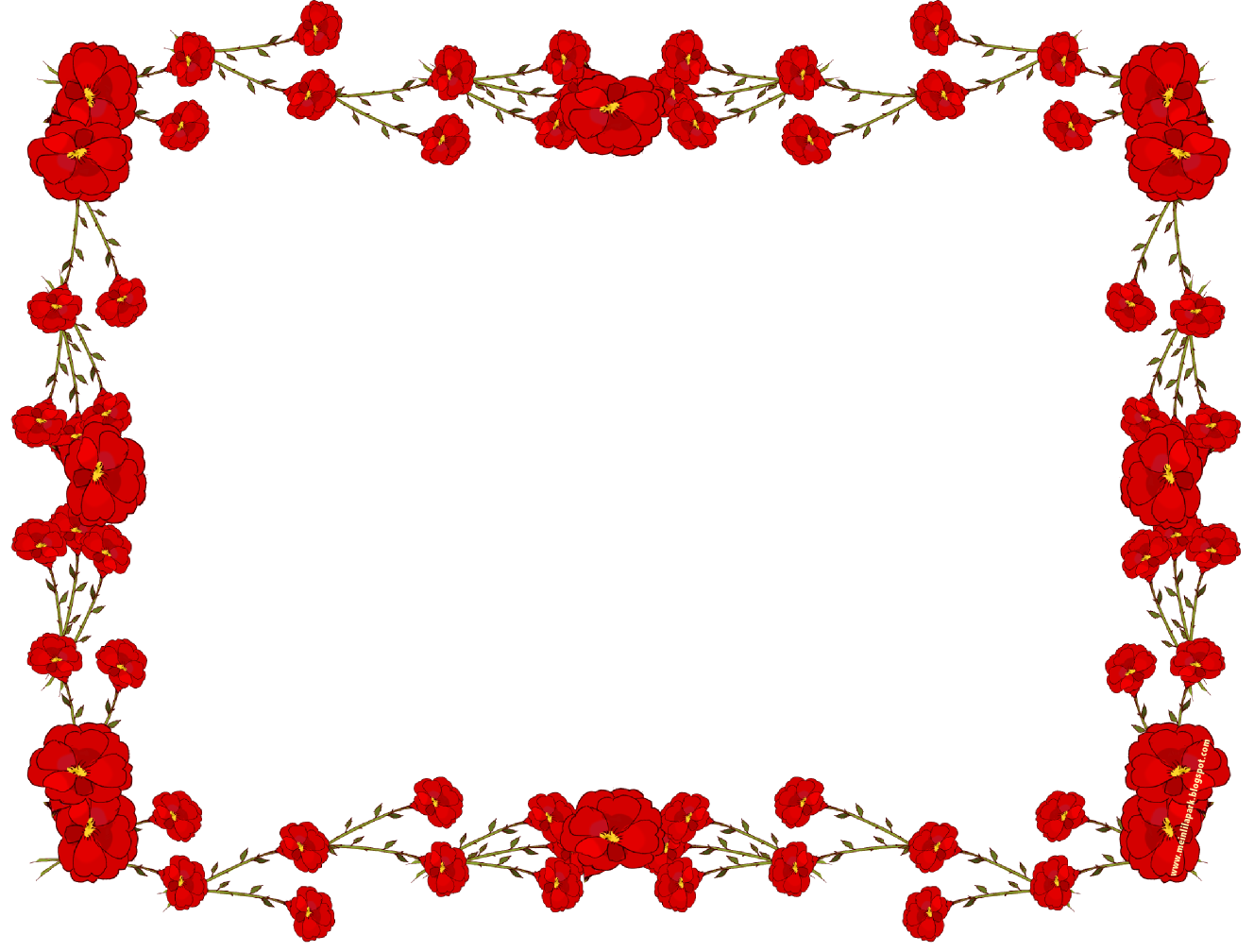 Picture Flower Rose Frame Transparent Red PNG Image