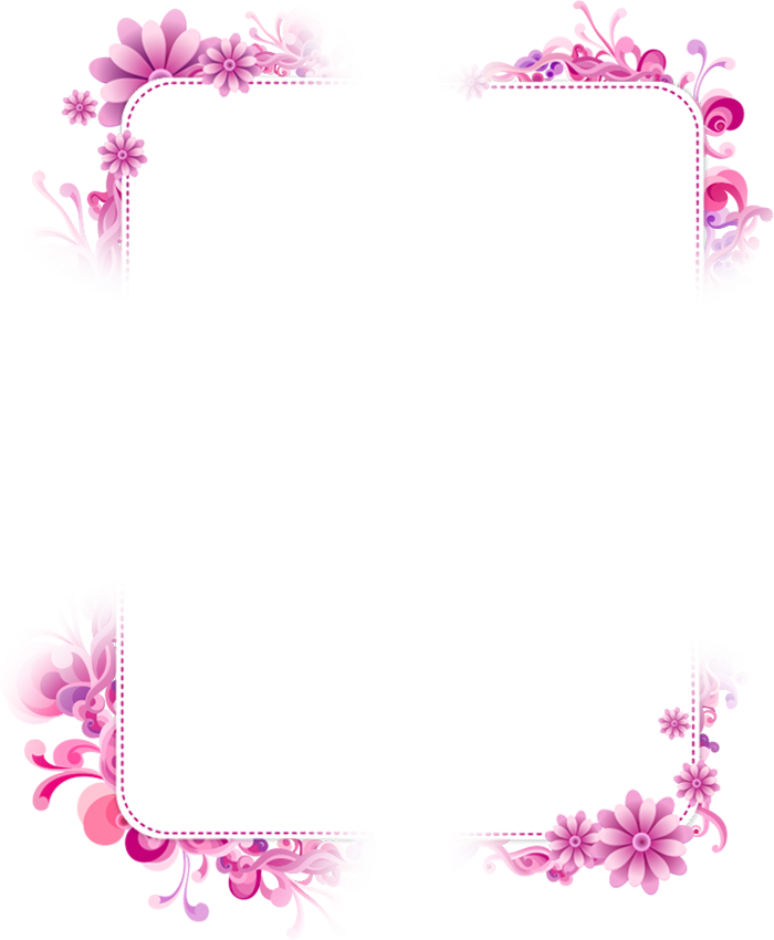 Purple Picture Frame Flower Free Download PNG HQ PNG Image