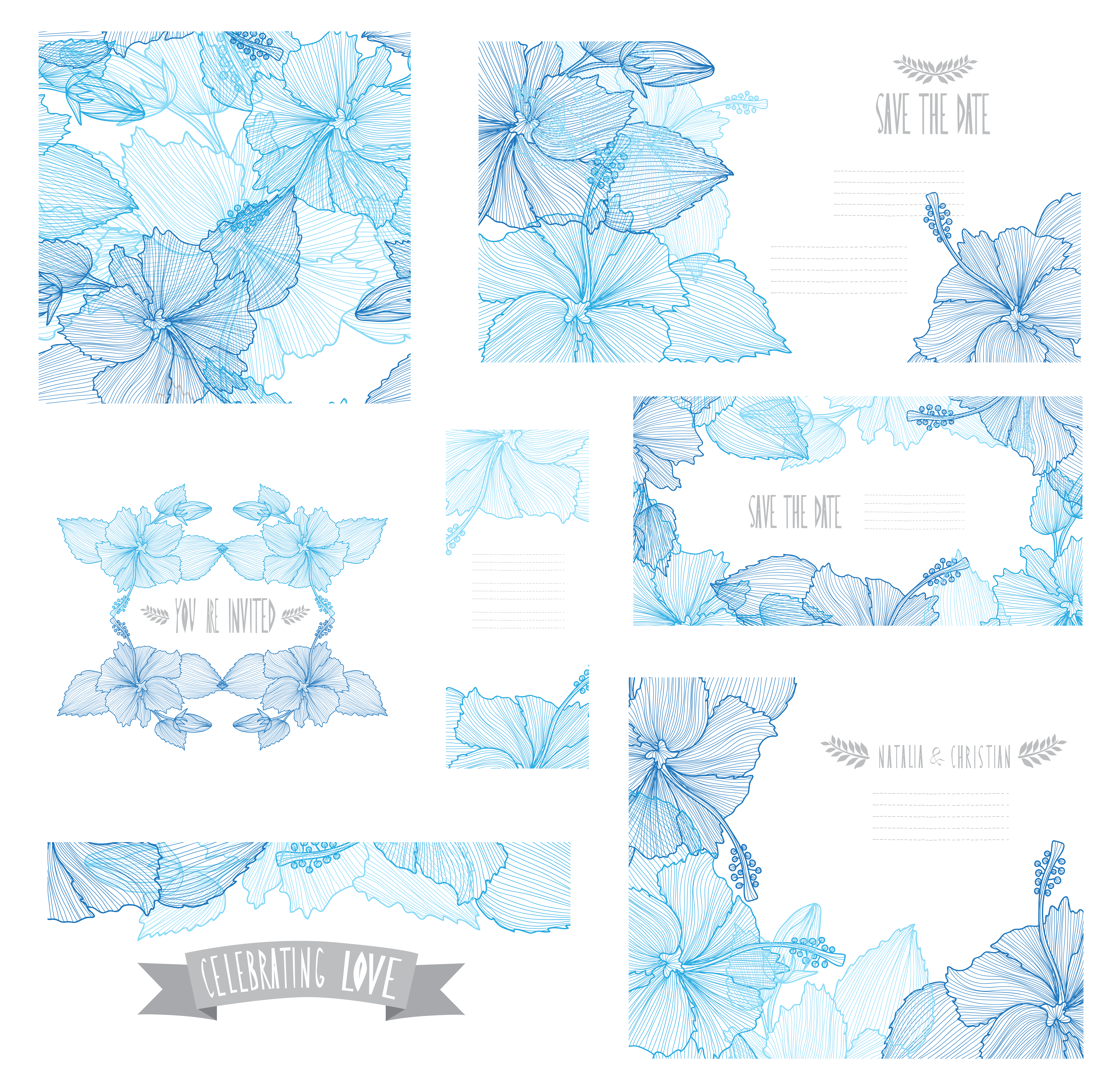 Blue Beautiful Flower Of Shades Euclidean Vector PNG Image