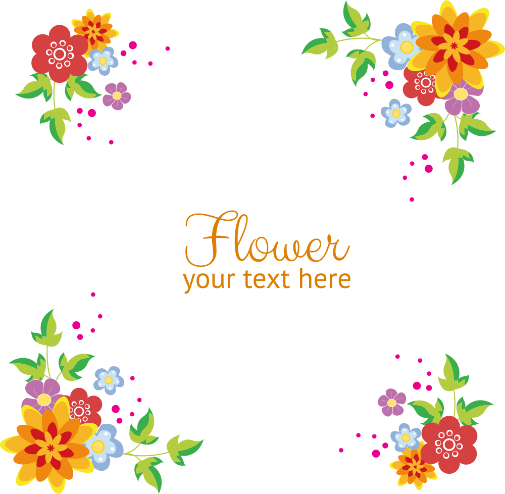 Flowers Vector Border Free Clipart HD PNG Image