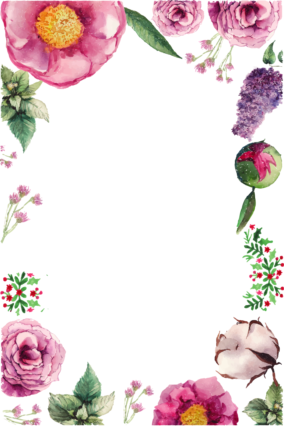 Download Flower Greeting Birthday Vector Flowers Border ...