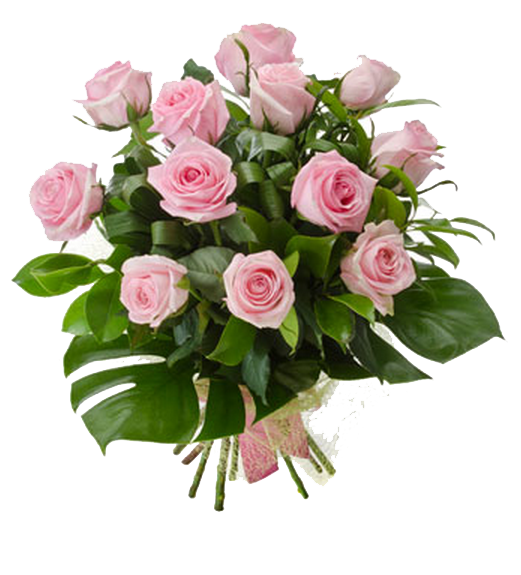 Pink Roses Flowers Bouquet Photo PNG Image
