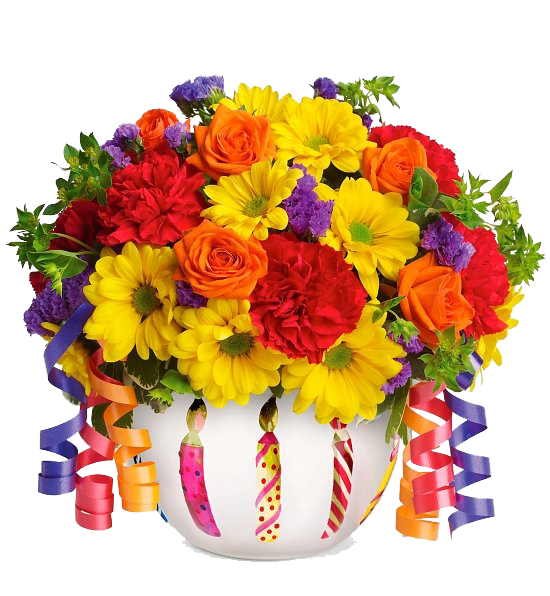 Birthday Flowers Bouquet File PNG Image