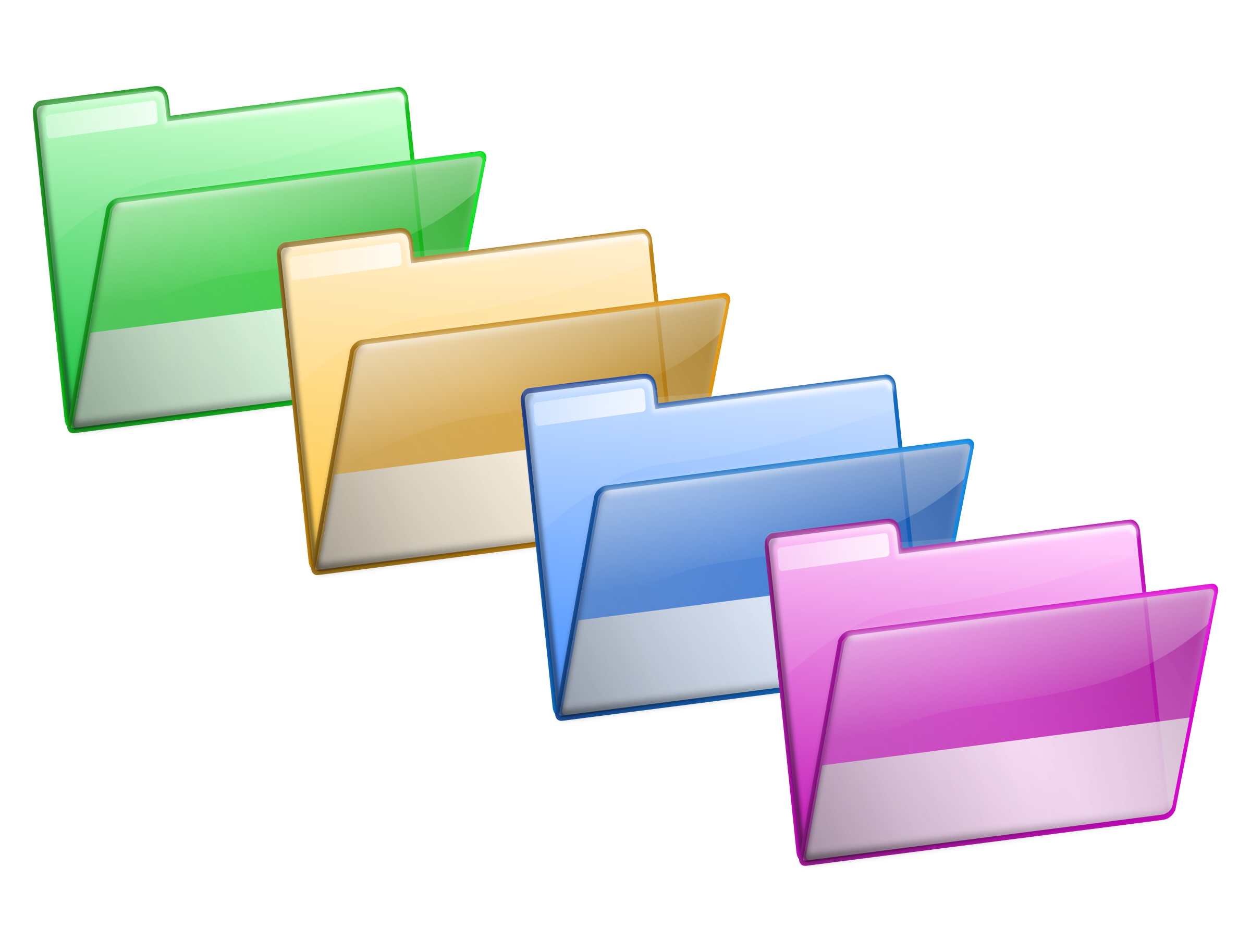 Colorful Folder PNG Image