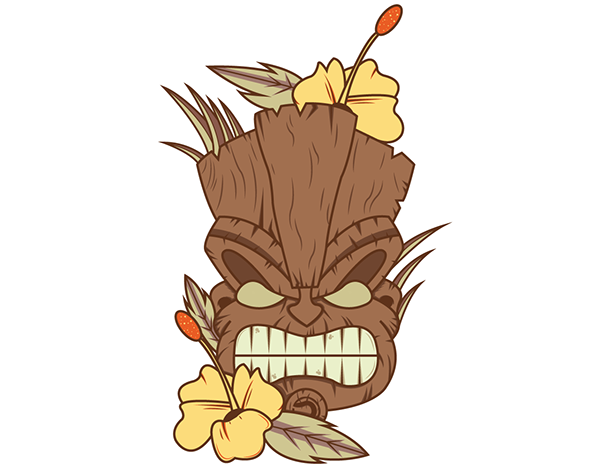 Tiki Plant Birthday Drawing Flower Download HQ PNG PNG Image