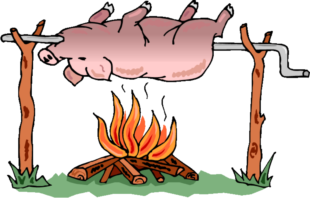 Barbecue Flower Organism Roast Pig Free Download PNG HQ PNG Image