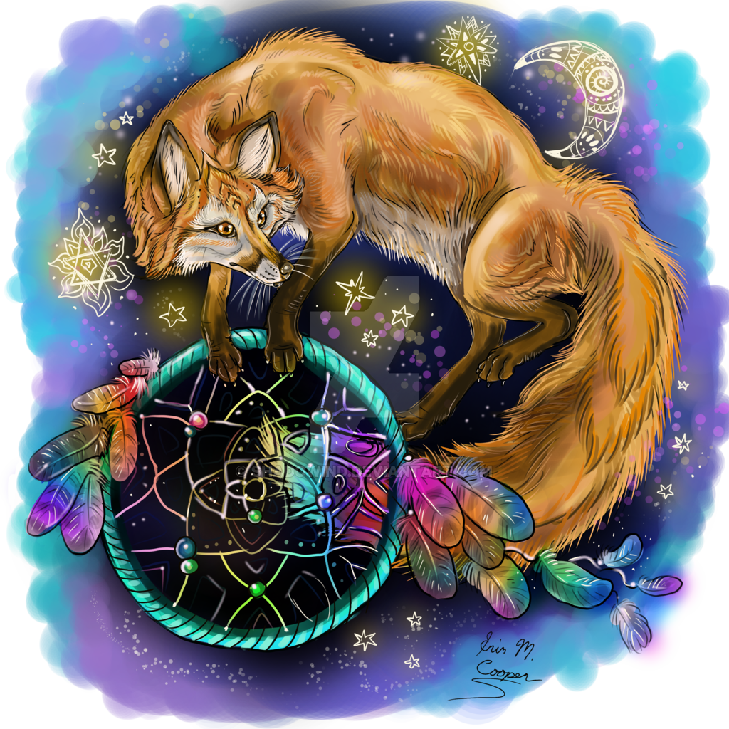 Fox Art Drawing Animal Dreamcatcher Free Transparent Image HD PNG Image