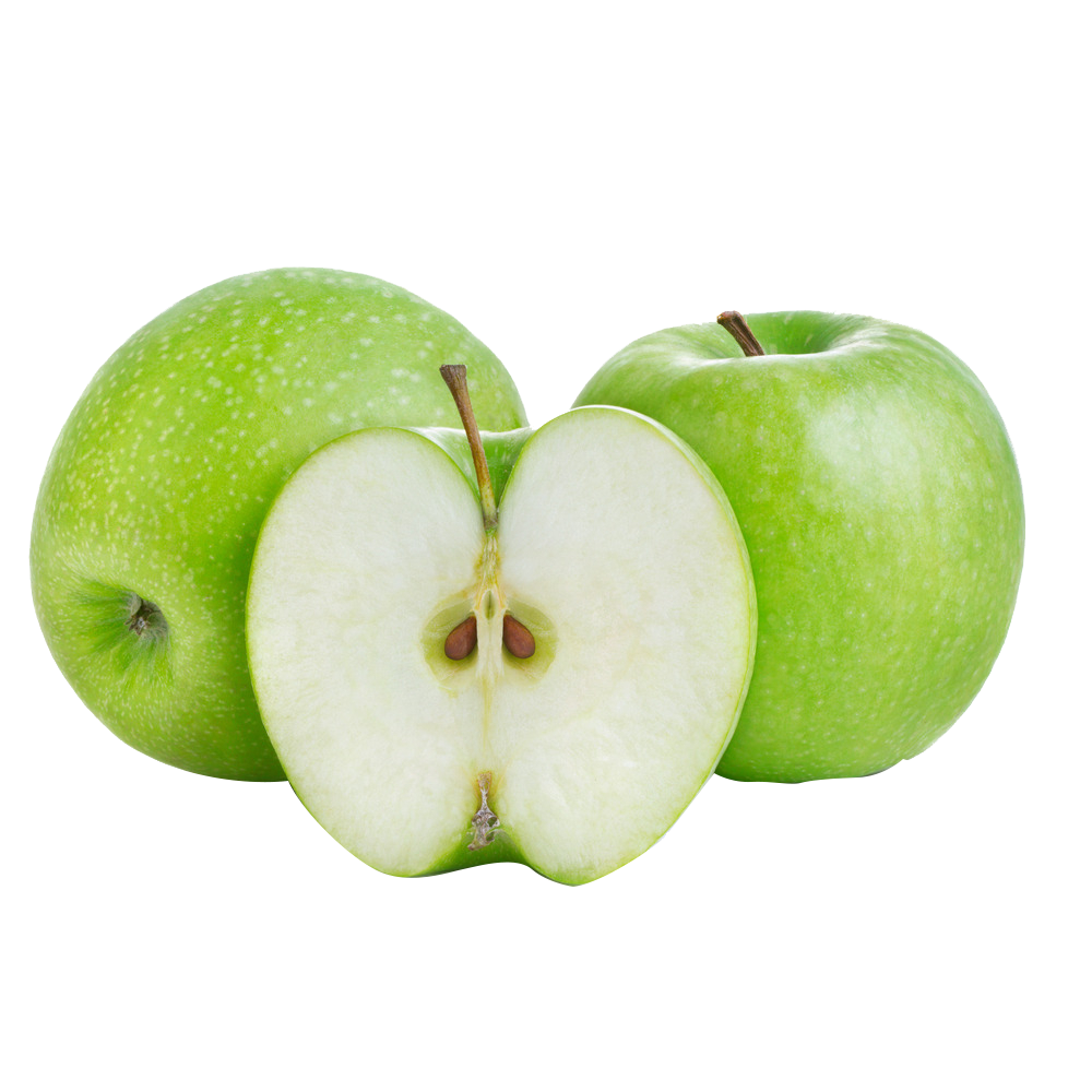 Cut Apple Food Smith Fruit Granny Fresh PNG Image