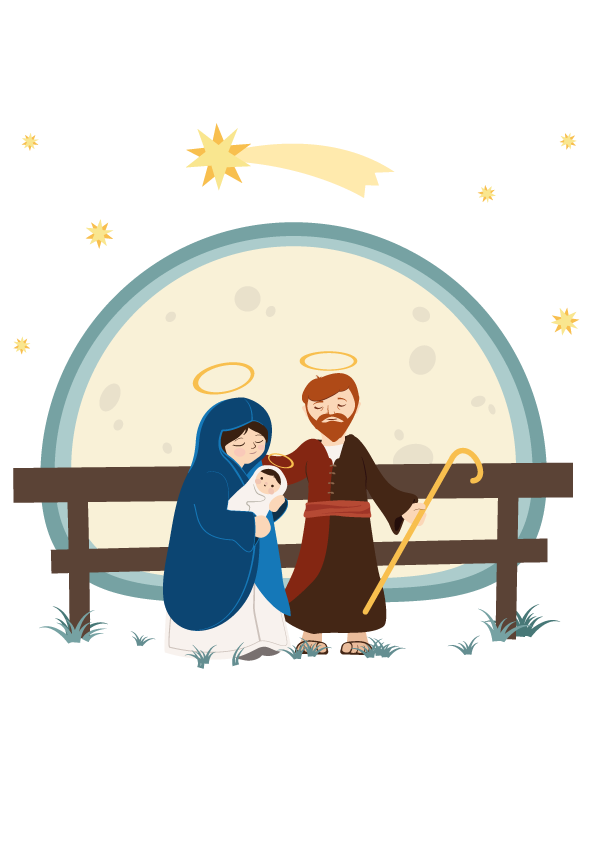 Christian Holy Angel Of Illustration Jesus Nativity PNG Image