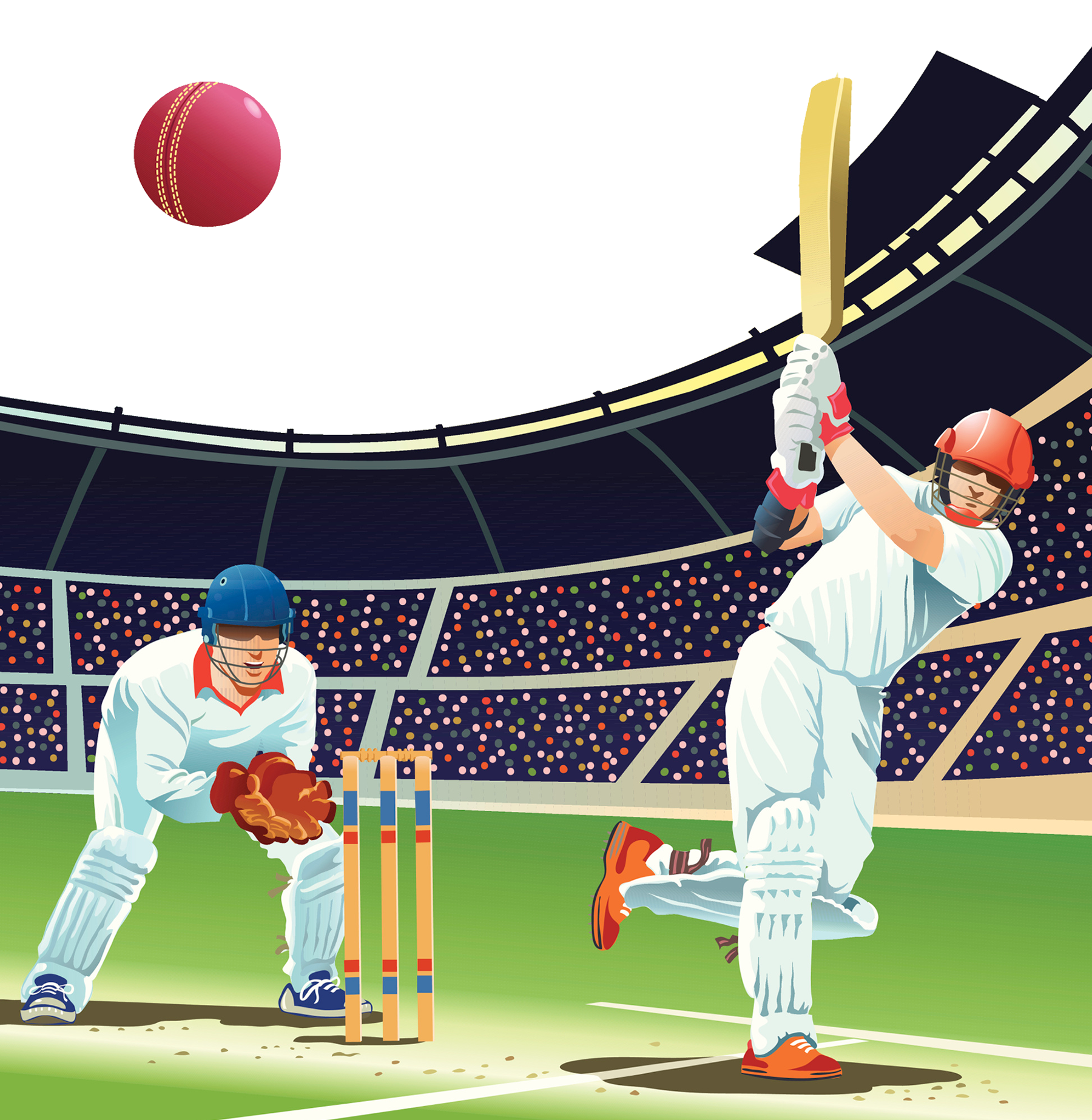 Cricket Venue Play Baseball Sport Batting PNG Image