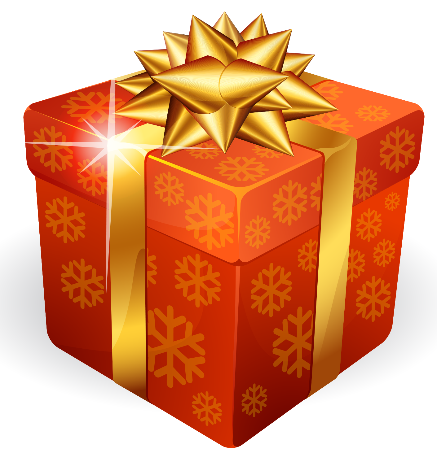 Gold Gift Box PNG Image