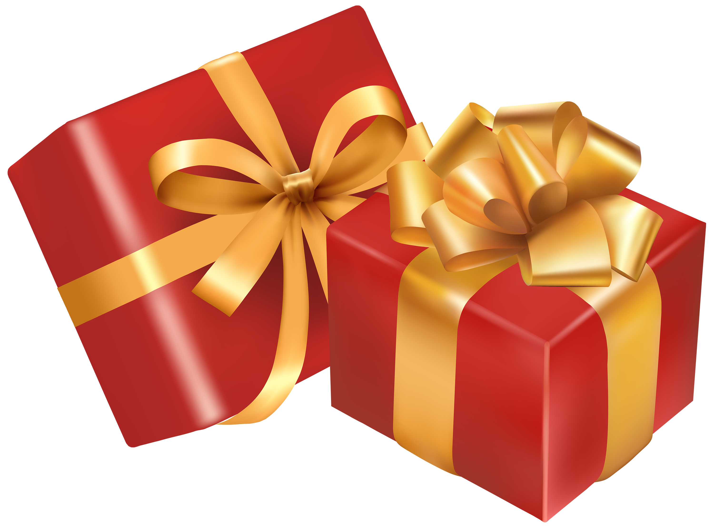 Gift Two Day Boxes Christmas Red PNG Image